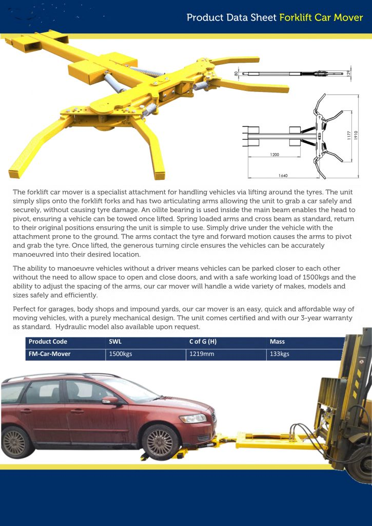 NEW MANUAL FORK LIFT CAR LIFTER AND MOVER